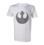 STAR WARS Adult Male Rebel Logo T-Shirt, Small, White