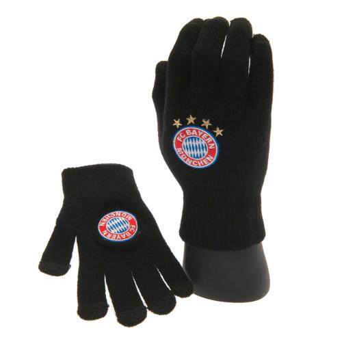 F.C. Bayern Munich Knitted Touch Screen Gloves Yths