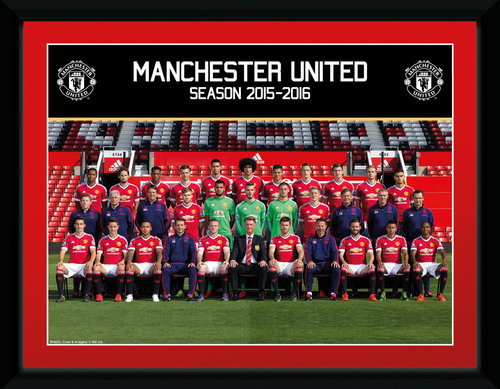 Manchester United Team 15/16 Framed Collector Print