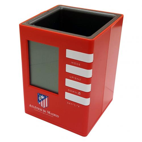 Atletico Madrid F.C. Pen Holder Alarm Clock