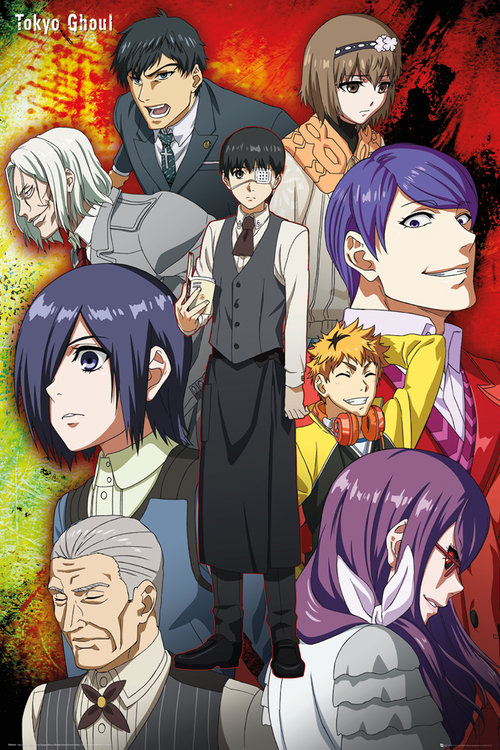 Tokyo Ghoul Group Maxi Poster