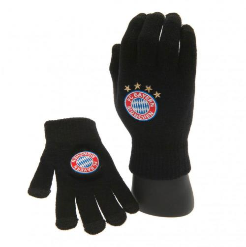 F.C. Bayern Munich Knitted Touch Screen Gloves Junior