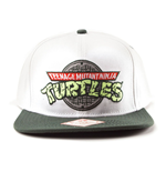 TEENAGE MUTANT NINJA TURTLES (TMNT) Manhole Logo Snapback Baseball Cap, One Size, White/Green