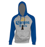 CORONA EXTRA Blue Sleeve Beer Pouch Hoodie