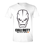 CALL OF DUTY Black Ops III Men's Skull Logo T-Shirt, Medium, White