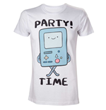 ADVENTURE TIME Adult Male Beemo Party Time! T-Shirt, Medium, White