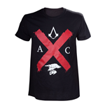ASSASSIN'S CREED Syndicate Adult Male Rooks Red Cross Edition T-Shirt, Extra Extra Large, Black