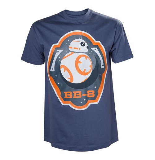 STAR WARS VII The Force Awakens Adult Male BB-8 Astromech Droid & Stars T-Shirt, Extra Large, Blue
