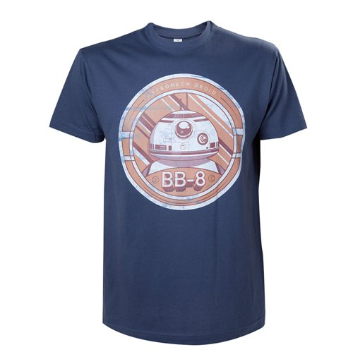 STAR WARS VII The Force Awakens Adult Male BB-8 Astromech Droid T-Shirt, Extra Extra Large, Blue