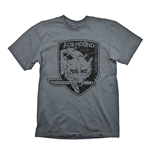 METAL GEAR SOLID Men's Foxhound Special Force Group Logo T-Shirt, Extra Large, Grey