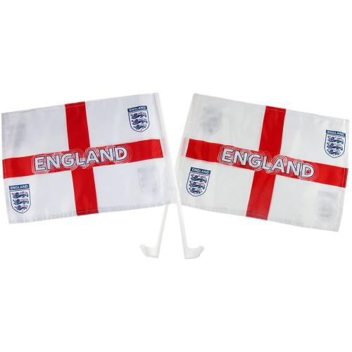 England F.A. Car Flag Twin Pack St George