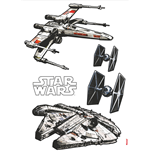 Star Wars Wall Decor Spaceships 100 x 70 cm