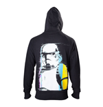 STAR WARS Adult Male Stormtrooper Retro Style Full Length Zipper Hoodie, Extra Extra Large, Black