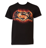 BATMAN v Superman Flames Logo Tee Shirt