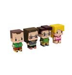 The Big Bang Theory Trading Figures 4-Pack Pixel Set 1 7 cm