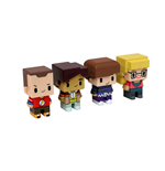 The Big Bang Theory Trading Figures 4-Pack Pixel Set 2 7 cm