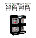 Batman The Dark Knight 4 Shots Glasses - Joker