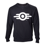 FALLOUT 4 Adult Male Vault Tech Logo Crew Neck Sweater, Small, Black