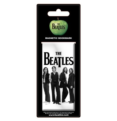The Beatles - White Iconic Image Magnetic Bookmark