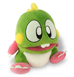 BUBBLE BOBBLE Dragon Brother Bub 22cm Plush with Sound Effects, Green
