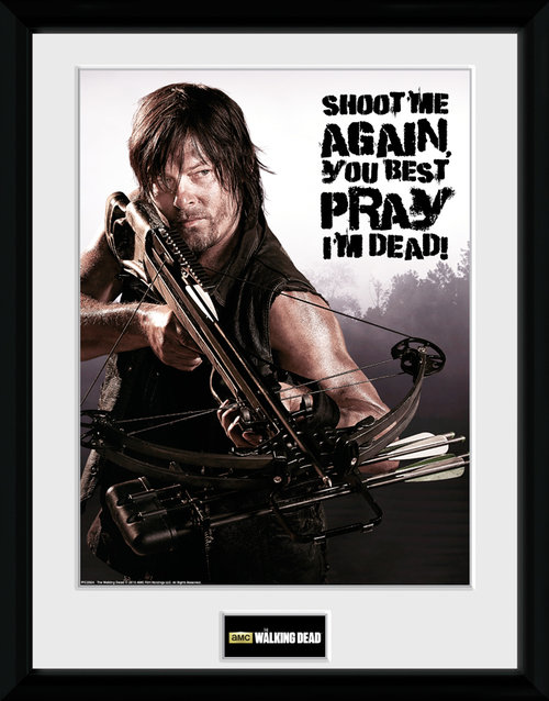 The Walking Dead Daryl shoot me Framed Collector Print