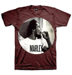 Bob Marley Men's Tee: Smokin Circle