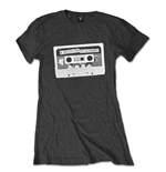 5 Seconds of Summer Women's Skinny Fit Tee: Tape