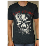 Iron Maiden Men's Puff Print Tee: Final Frontier Eddie