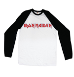 Iron Maiden Men's Raglan/Baseball Tee: Logo