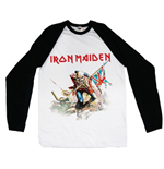 Iron Maiden Men's Raglan/Baseball Tee: Trooper