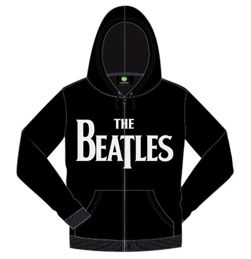 The Beatles Men's Hooded Top: Drop T Logo