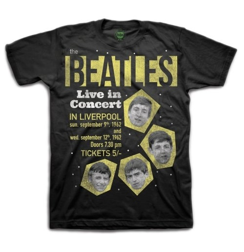 "The Beatles Men's Boxed Tee: ""1962"" Live in Concert"