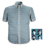"The Beatles Men's Formal Shirt: ""1967"" Heads Pattern"