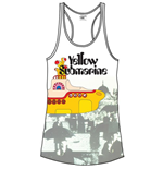 The Beatles Women's Vest Tee: Yellow Sub & Brollies