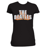 The Beatles Women's Rhinestone Tee: 3D Logo