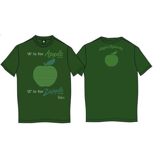 The Beatles Men's Back Print Tee: A is for Apple