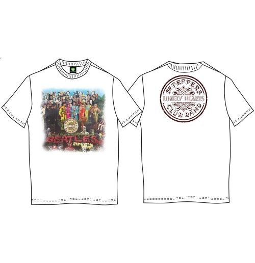 The Beatles Men's Back Print Tee: Sgt Pepper