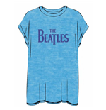 The Beatles Women's Burn-out Tee: Drop T Logo