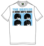 The Beatles Men's Tee: Hard Days Night Pastel