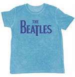 The Beatles Men's Burn-out Tee: Drop T Logo