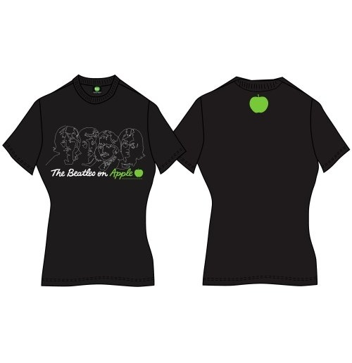 The Beatles Women's Back Print Tee: On Apple for only £ 15 ...