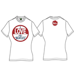 The Beatles Women's Back Print Tee: I Love The Beatles