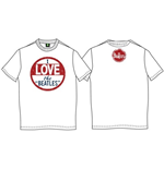 The Beatles Men's Back Print Tee: I Love the Beatles