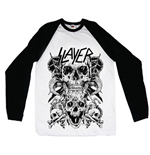 Slayer Men's Raglan/Baseball Tee: Skulls