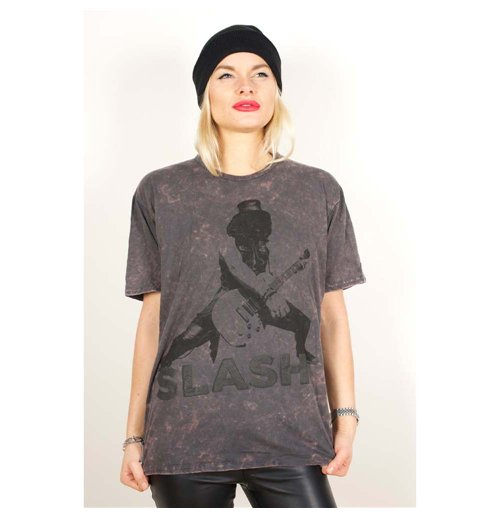 Slash Men's Acid Wash Tee: Snow-Blind
