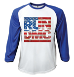 Run DMC Men's Raglan/Baseball Tee: Americana (Large)