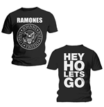 Ramones Men's Back Print Tee: Hey Ho (Front & Back)
