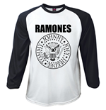 Ramones Men's Raglan/Baseball Tee: Presidential Seal (Large)