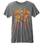 Queen Men's Burn-out Tee: Classic Crest