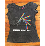 Pink Floyd Women's Acid Wash Tee: Multi-logo